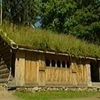 Blockhaus bauen ohne moderne Technik!