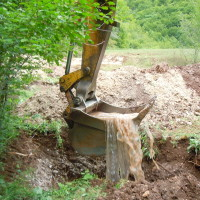 Permakultur-Projekt in Bosnien; 3. Brunnen bauen, statt Quelle fassen